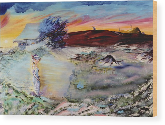 Prints Wood Print featuring the painting Southern Nights by Richard Barham