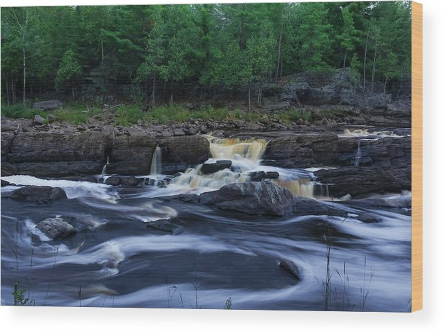 Waterfall Wood Print featuring the photograph St Louis River by Heidi Hermes