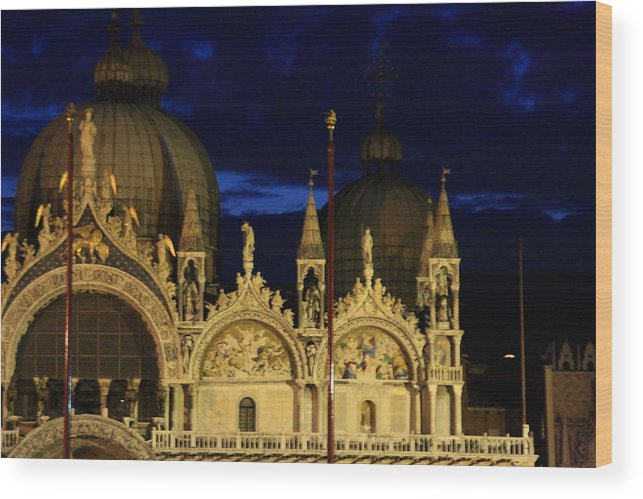 Venice Wood Print featuring the photograph St. Mark's Basilica at Sunrise by Michael Henderson