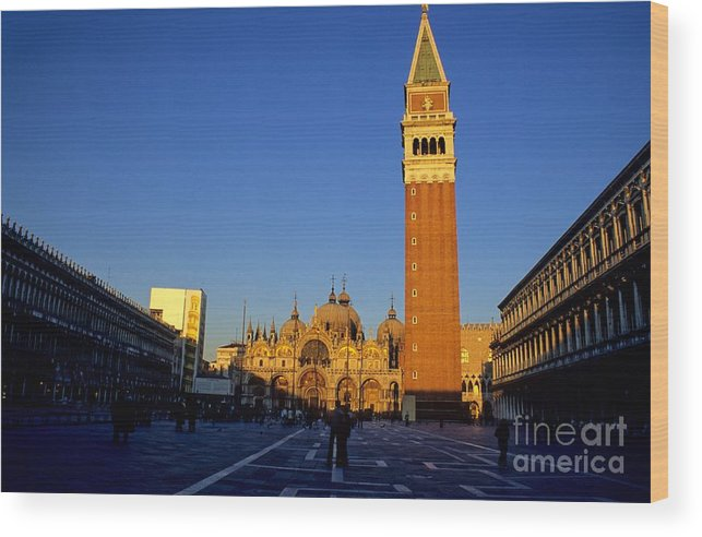Italy Wood Print featuring the photograph St Marks In Venice In Afternoon Sun by Michael Henderson