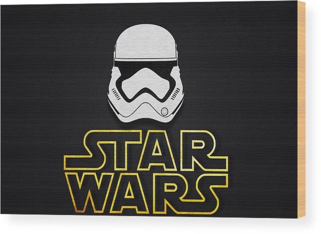 Star Wars Wallpaper Wood Print By Raul Sapena