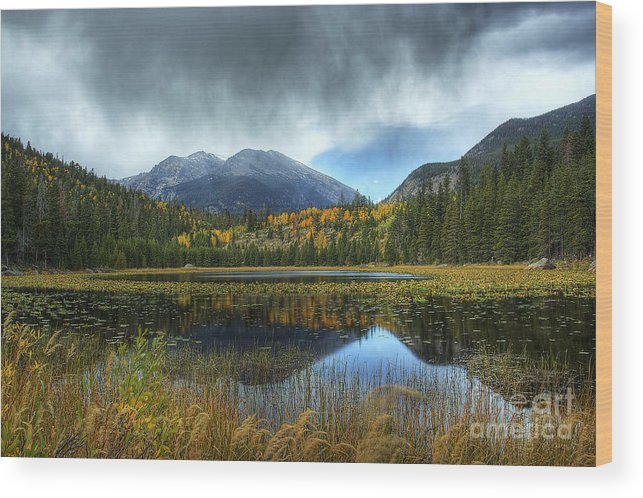 Nature Wood Print featuring the photograph Storm Over Cub Lake by Pete Hellmann