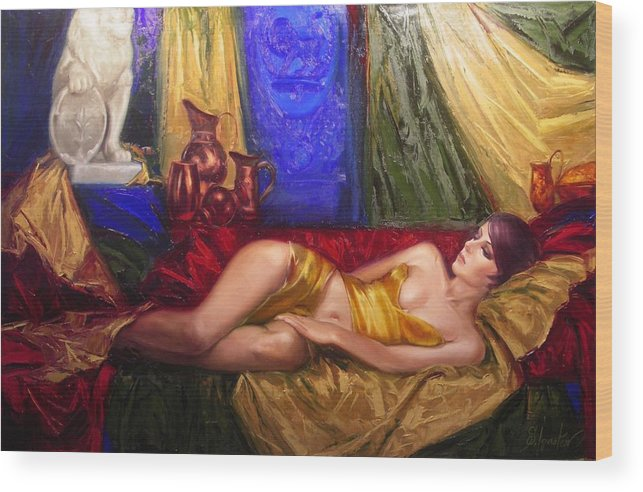 Art Wood Print featuring the painting Sultan Spouse by Sergey Ignatenko