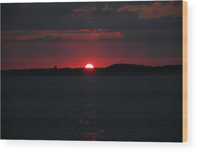 Fishing Wood Print featuring the photograph Sunrise on The Chesapeake Bay by Marc Van Pelt