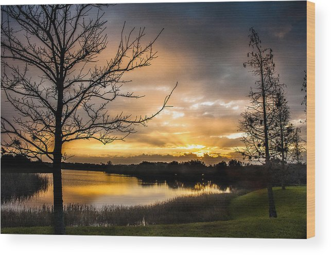 Sunrise Wood Print featuring the photograph Sunrise Over Valhalla by Norman Johnson