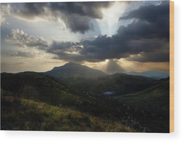 Indian Springs Wood Print featuring the photograph Sunset over Indian Springs by Roy Nierdieck