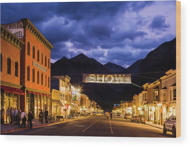 Main Street Wood Print featuring the photograph Telluride Main Street by Whit Richardson