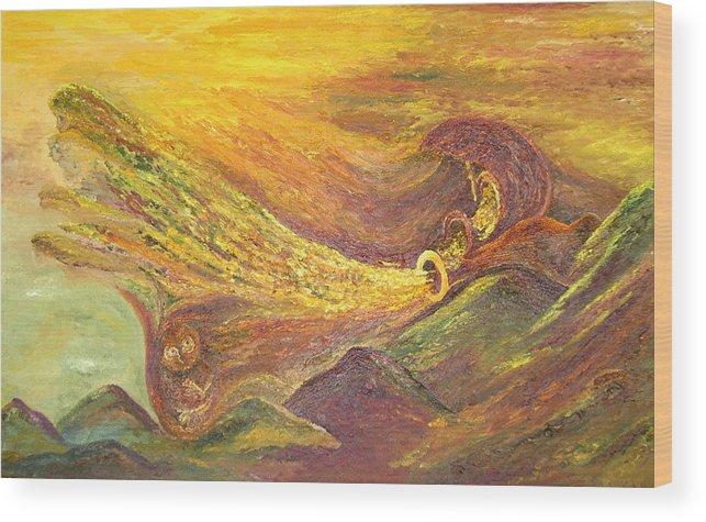 Autumn Wood Print featuring the painting The Autumn Music Wind by Karina Ishkhanova