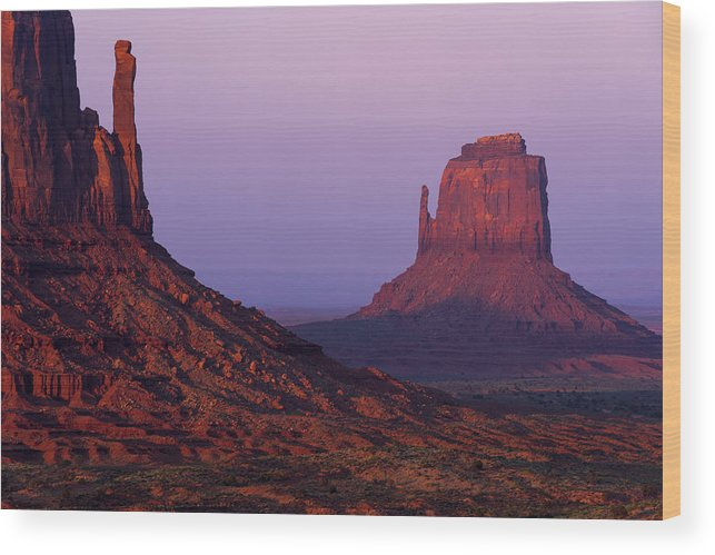 Mittens Wood Print featuring the photograph The Mittens by Chad Dutson