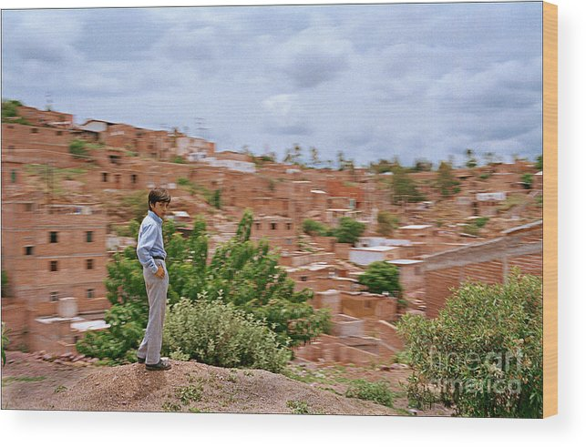 Landscape Culture Boy Houses Hill Wood Print featuring the photograph Time Stand Still by Ty Lee