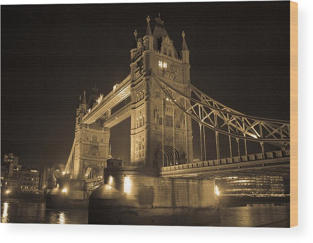 London Wood Print featuring the photograph Tower Bridge of London by Joshua Francia