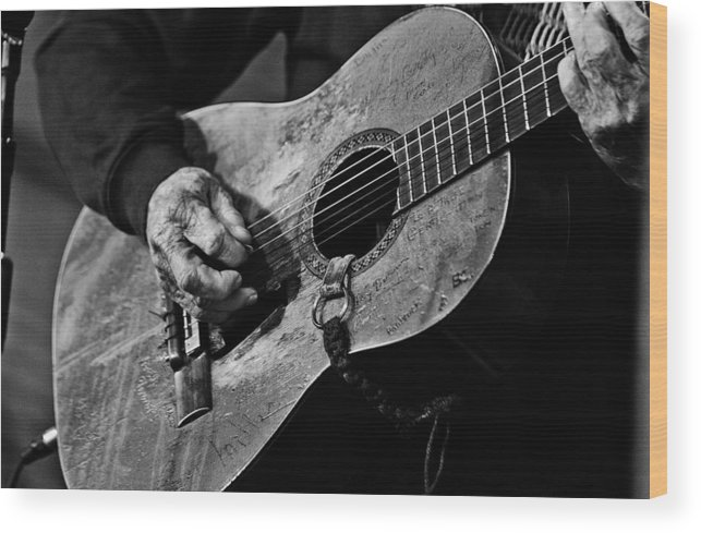 Willie Nelson And His Guitar Trigger. Wood Print featuring the photograph Trigger and Willie by Ty Helbach