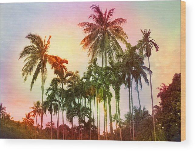 Tropical Wood Print featuring the photograph Tropical 11 by Mark Ashkenazi