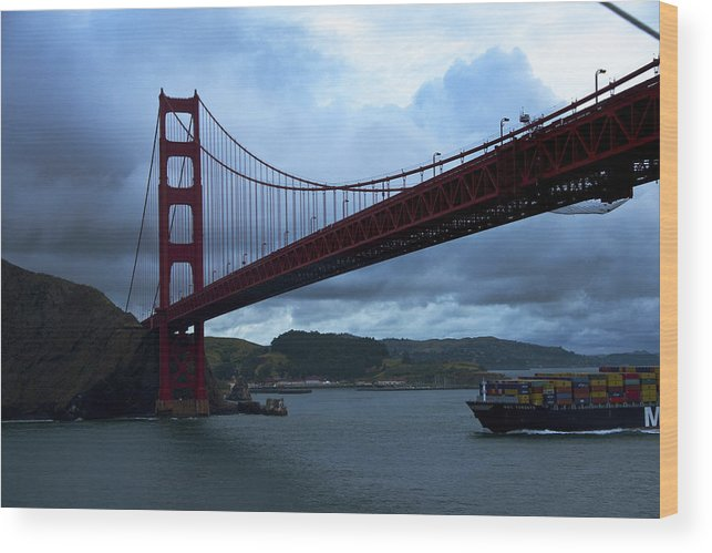 Golden Gate Bridge Wood Print featuring the photograph Under the Golden Gate In Early Morning Light by Richard Henne