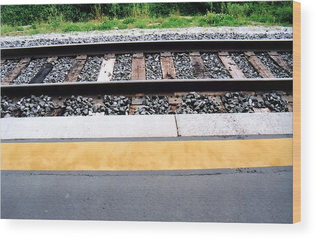 Railway Track Wood Print featuring the photograph Untitled-1 by Lyle Crump