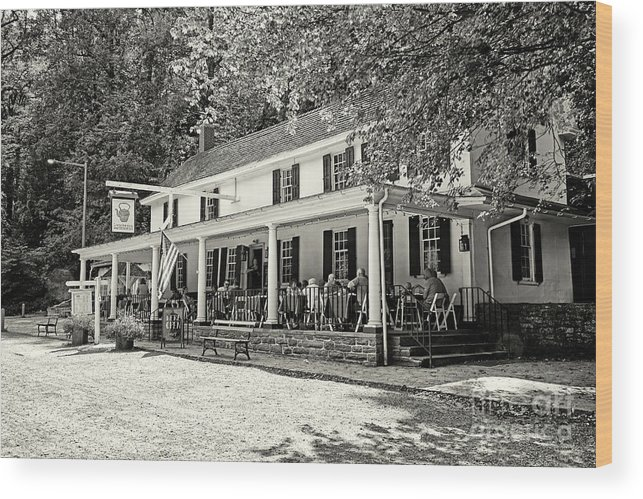 Valley Green Inn Philadelphia Wood Print featuring the photograph Valley Green Inn Philadelphia 3 by Jack Paolini