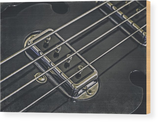 Scott Norris Photography Wood Print featuring the photograph Vintage Bass by Scott Norris