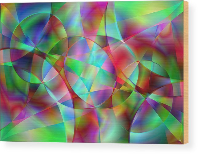 Colors Wood Print featuring the digital art Vision 27 by Jacques Raffin