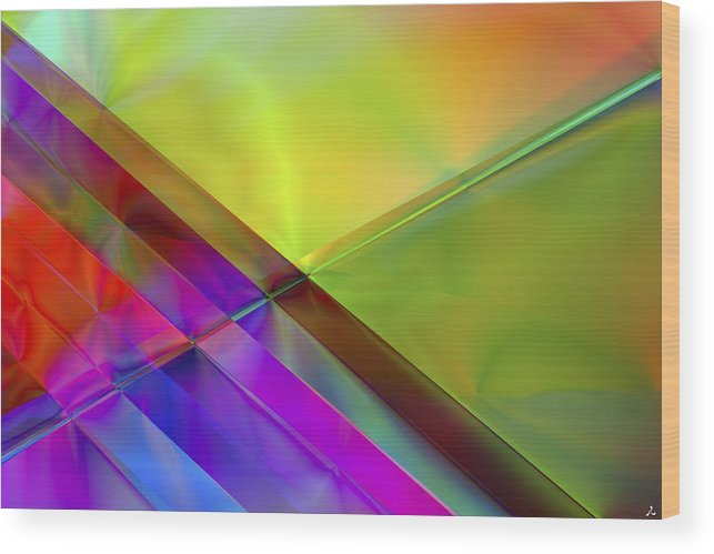 Colors Wood Print featuring the digital art Vision 3 by Jacques Raffin