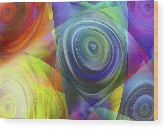 Colors Wood Print featuring the digital art Vision 39 by Jacques Raffin