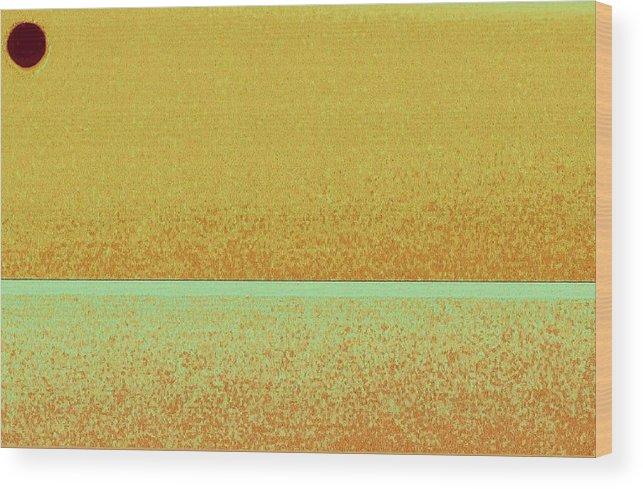 Pastel Wood Print featuring the mixed media Wheat field by Joseph Ferguson