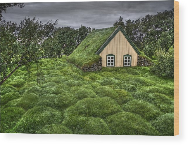 Hof Wood Print featuring the photograph When Heaven Calls Your Name by Evelina Kremsdorf