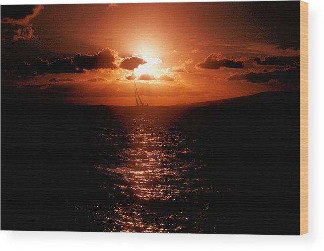 Sailing Wood Print featuring the photograph Why I'd Rather Be Sailing by Richard Henne