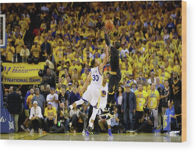 Playoffs Wood Print featuring the photograph 2016 Nba Finals - Game Seven by Ezra Shaw