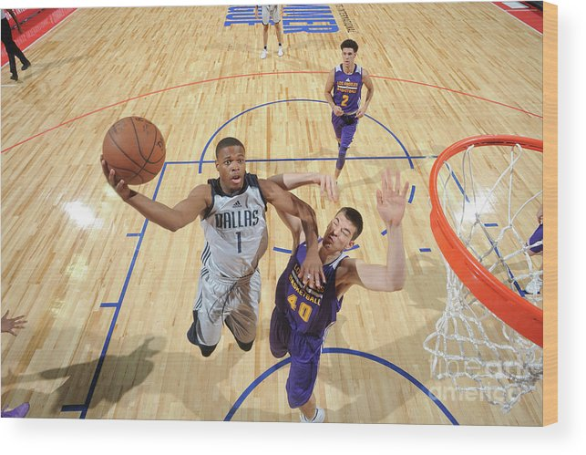 Nba Pro Basketball Wood Print featuring the photograph 2017 Las Vegas Summer League - Dallas by Garrett Ellwood