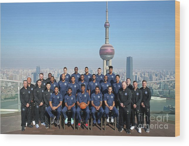 Event Wood Print featuring the photograph 2017 Nba Global Games - China by David Sherman