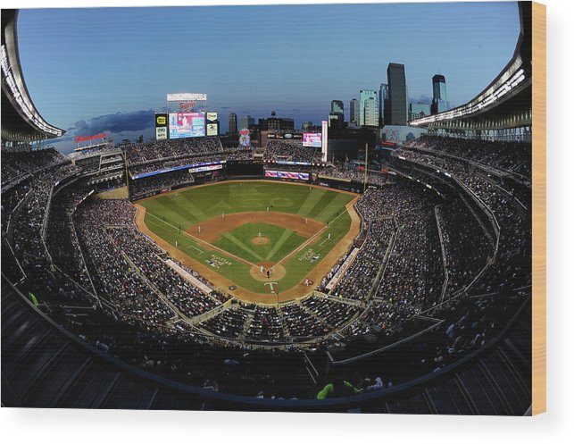 American League Baseball Wood Print featuring the photograph 85th Mlb All Star Game by Hannah Foslien