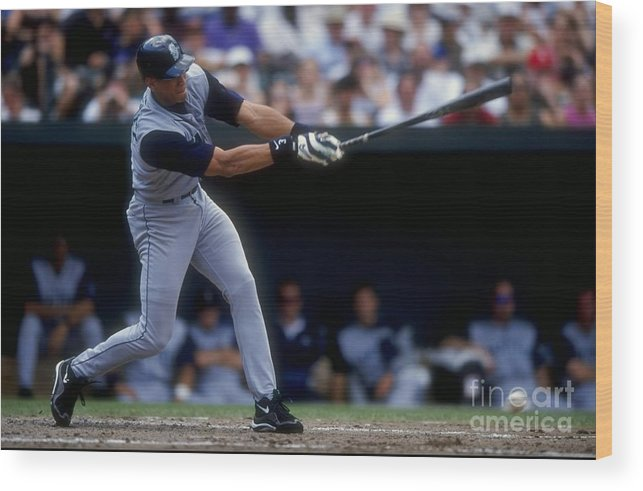 People Wood Print featuring the photograph Alex Rodriguez by Doug Pensinger