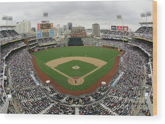 Scenics Wood Print featuring the photograph Chicago Cubs V San Diego Padres by Donald Miralle