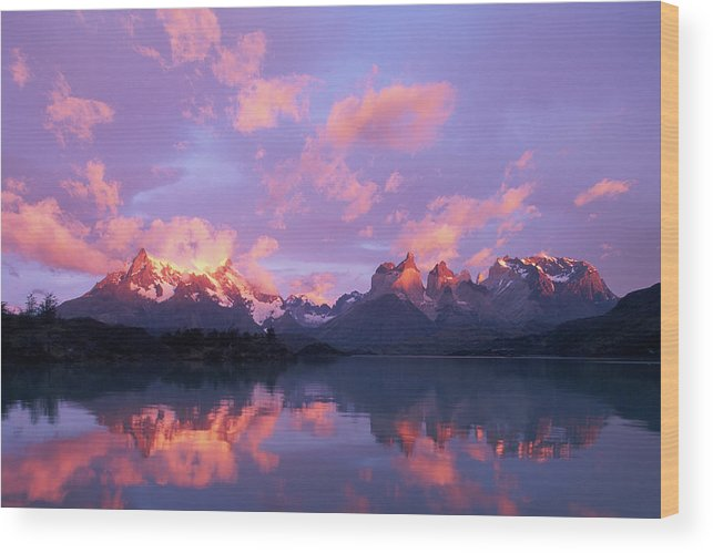 Scenics Wood Print featuring the photograph Chile, Patagonia, Torres Del Paine Np by Paul Souders