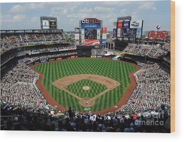 Citi Field Wood Print featuring the photograph Colorado Rockies V New York Mets by G Fiume