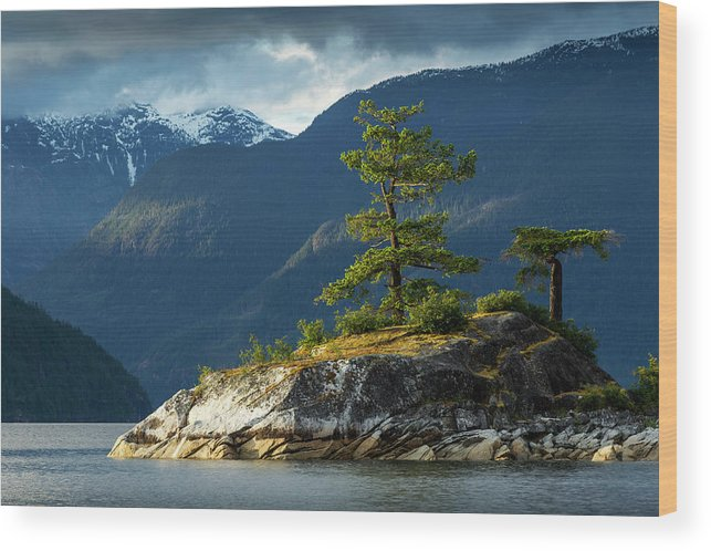 Scenics Wood Print featuring the photograph Desolation Sound, Bc, Canada by Paul Souders