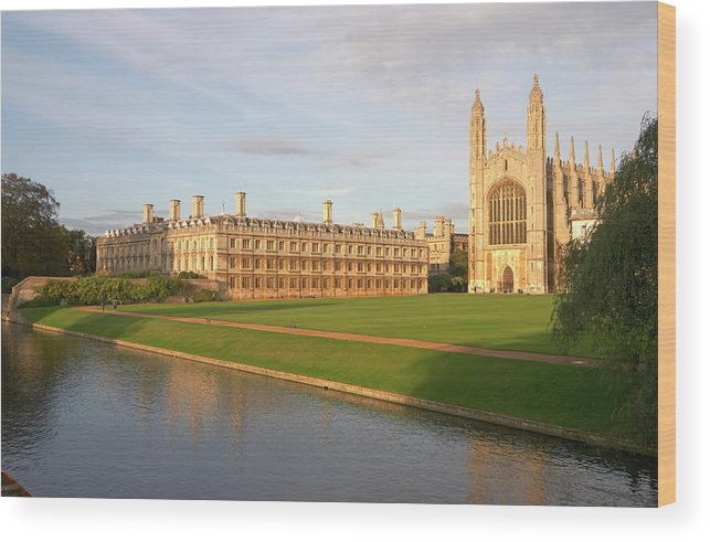 Shadow Wood Print featuring the photograph England, Cambridge, Cambridge by Andrew Holt