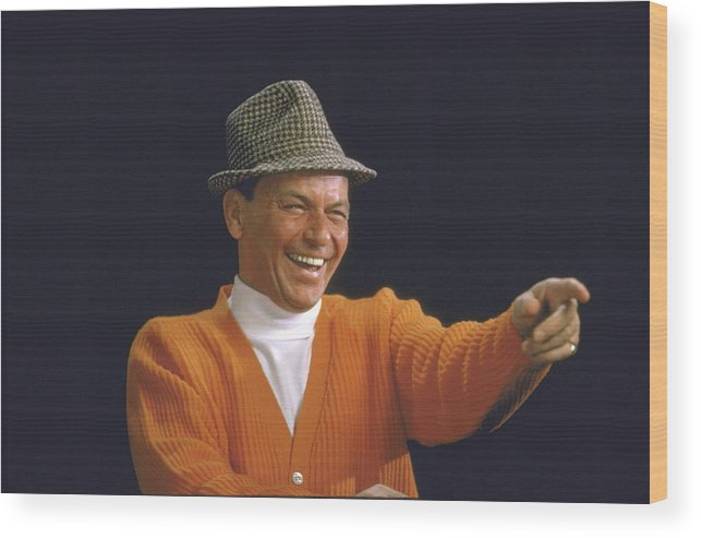 Timeincown Wood Print featuring the photograph Frank Sinatra by John Dominis