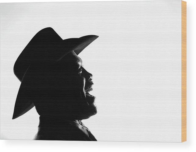Joe Frazier Wood Print featuring the photograph Joe Frazier Portrait Session by Al Bello