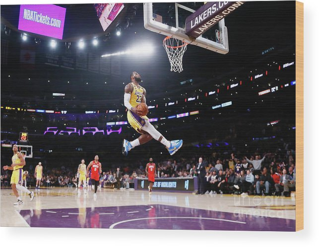 Nba Pro Basketball Wood Print featuring the photograph Lebron James by Chris Elise
