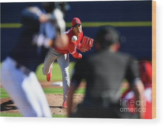 Maryvale Wood Print featuring the photograph Los Angeles Angels Spring Training by Masterpress