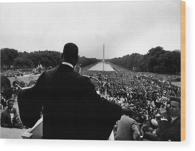 Martin Luther King Jr. Wood Print featuring the photograph Martin Luther King Jr by Paul Schutzer
