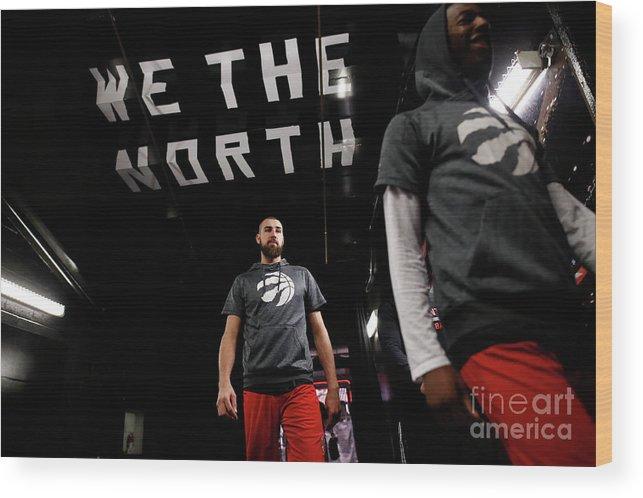Playoffs Wood Print featuring the photograph Milwaukee Bucks V Toronto Raptors by Mark Blinch
