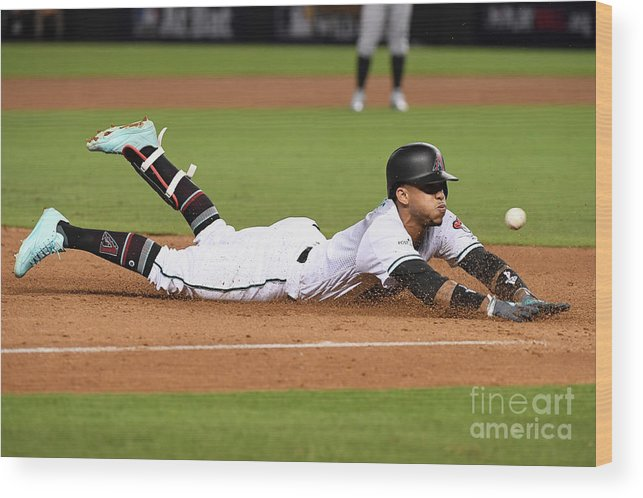 Playoffs Wood Print featuring the photograph National League Wild Card Game - by Norm Hall
