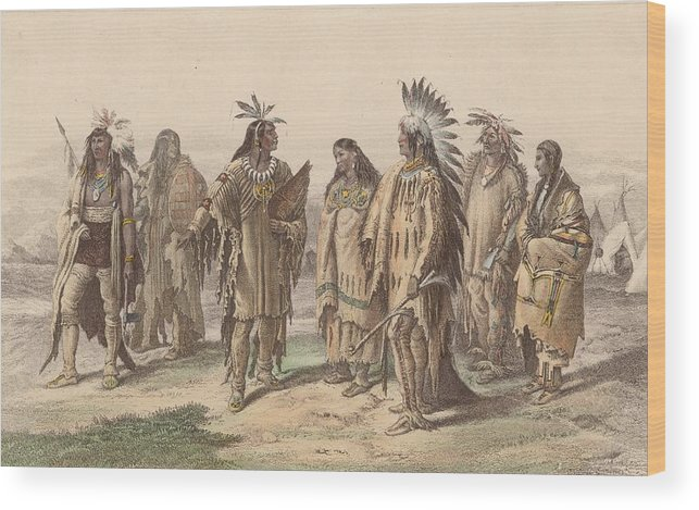 American Culture Wood Print featuring the digital art Native Americans by Hulton Archive