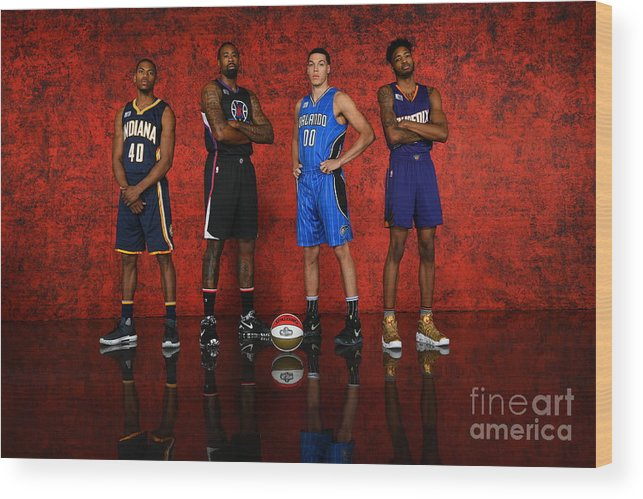 Smoothie King Center Wood Print featuring the photograph Nba All-star Portraits 2017 by Jesse D. Garrabrant