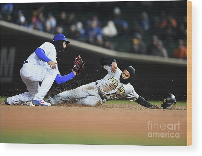 People Wood Print featuring the photograph Pittsburgh Pirates V Chicago Cubs by Stacy Revere