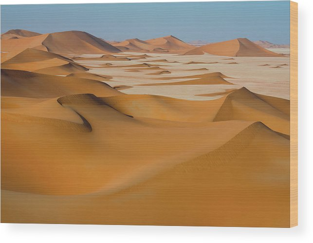 Tranquility Wood Print featuring the photograph Rub Al-khali Empty Quarter by All Rights Reserved For Ahmed Al-shukaili