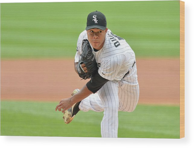 American League Baseball Wood Print featuring the photograph Seattle Mariners V Chicago White Sox by Brian Kersey