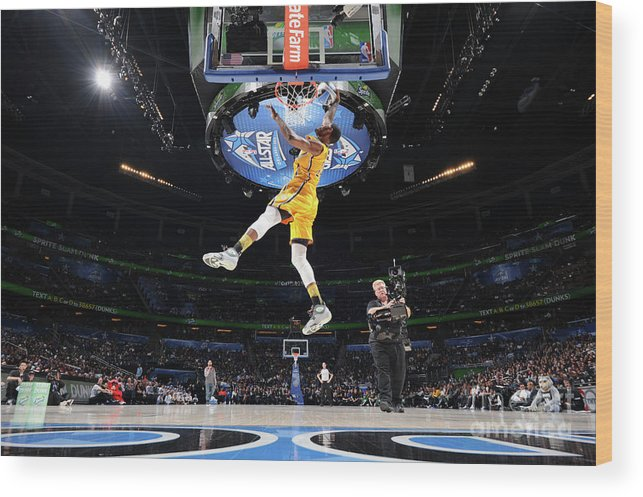 Nba Pro Basketball Wood Print featuring the photograph Sprite Slam Dunk Contest by Andrew D. Bernstein